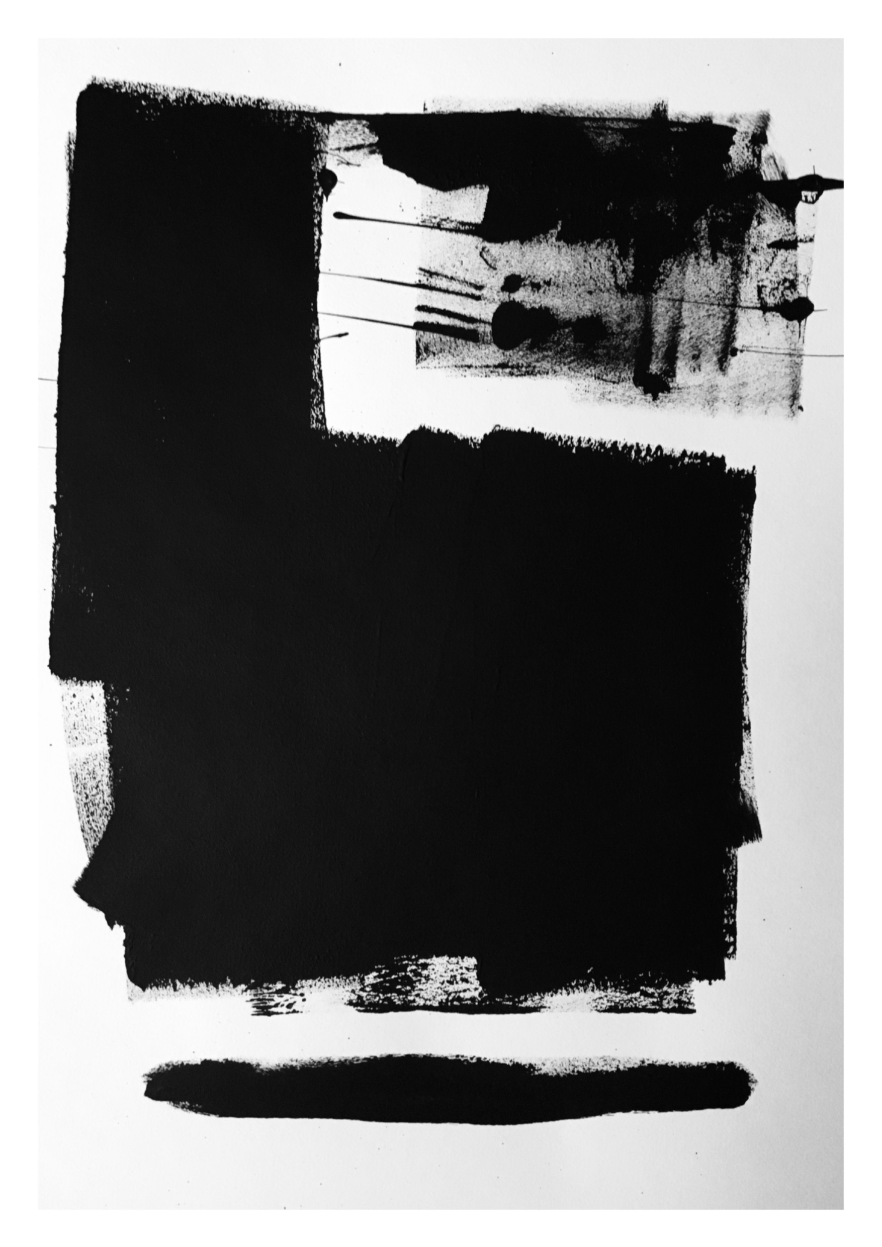 Untitled 1 – Black Acrylic on Paper
