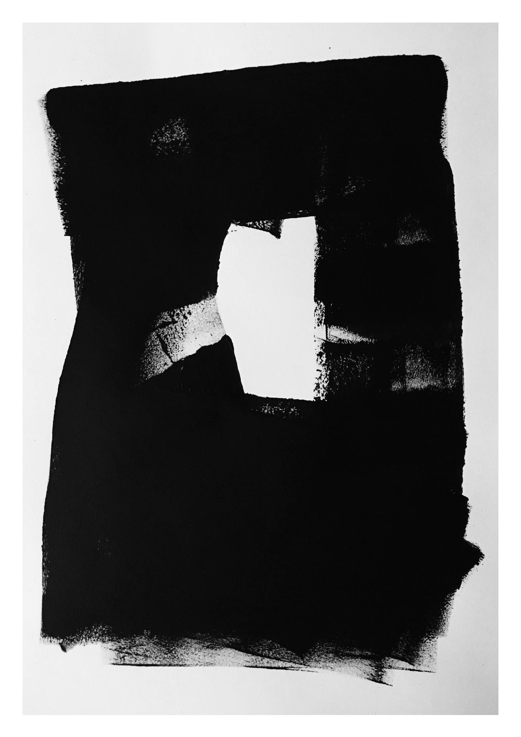 Untitled 2 – Black Acrylic on Paper