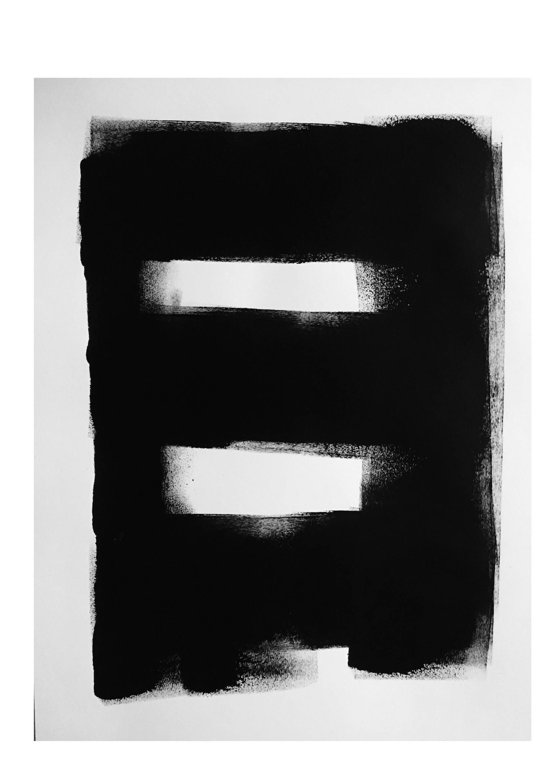 Untitled 3 – Black Acrylic on Paper
