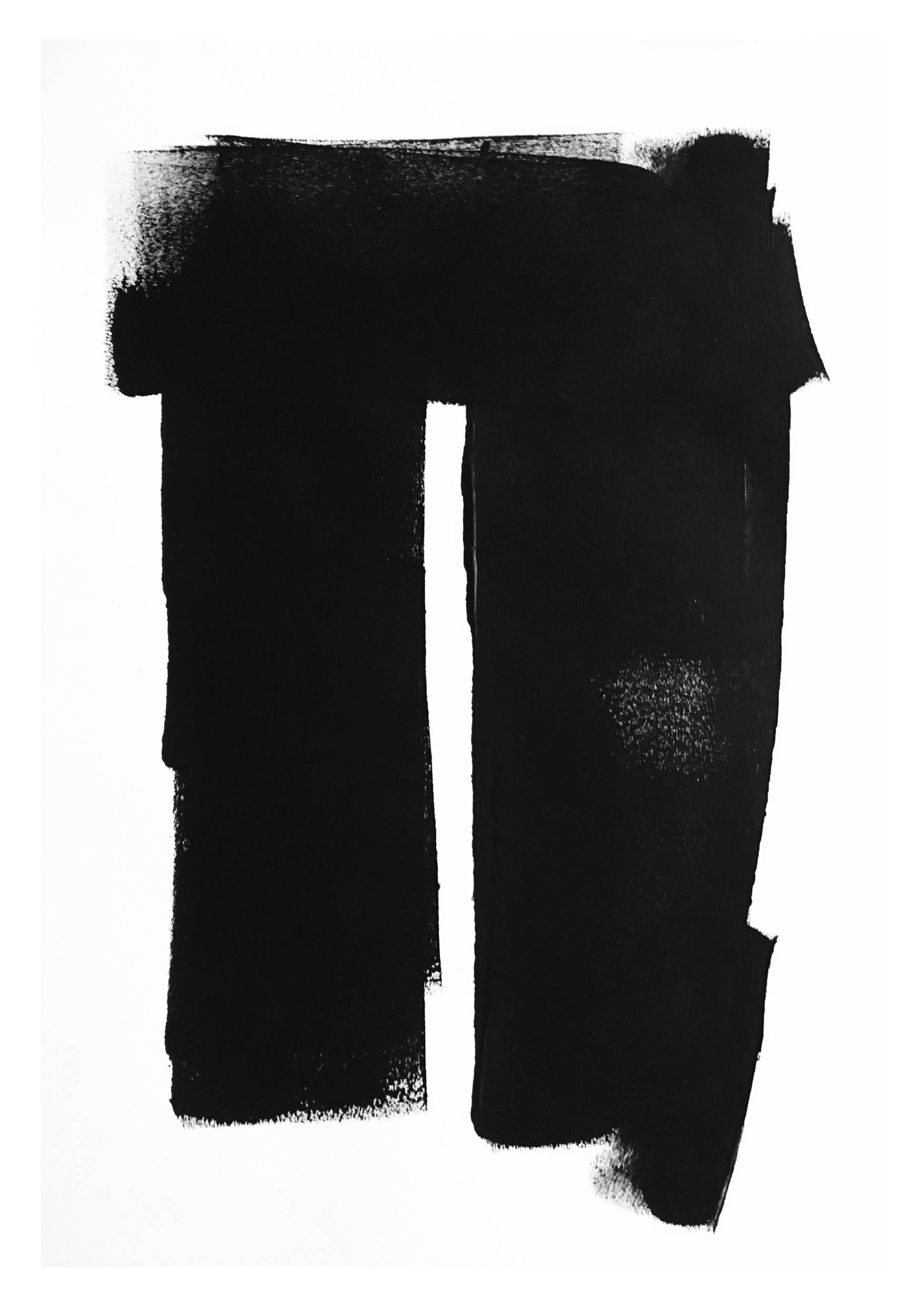 Untitled 4 – Black Acrylic on Paper