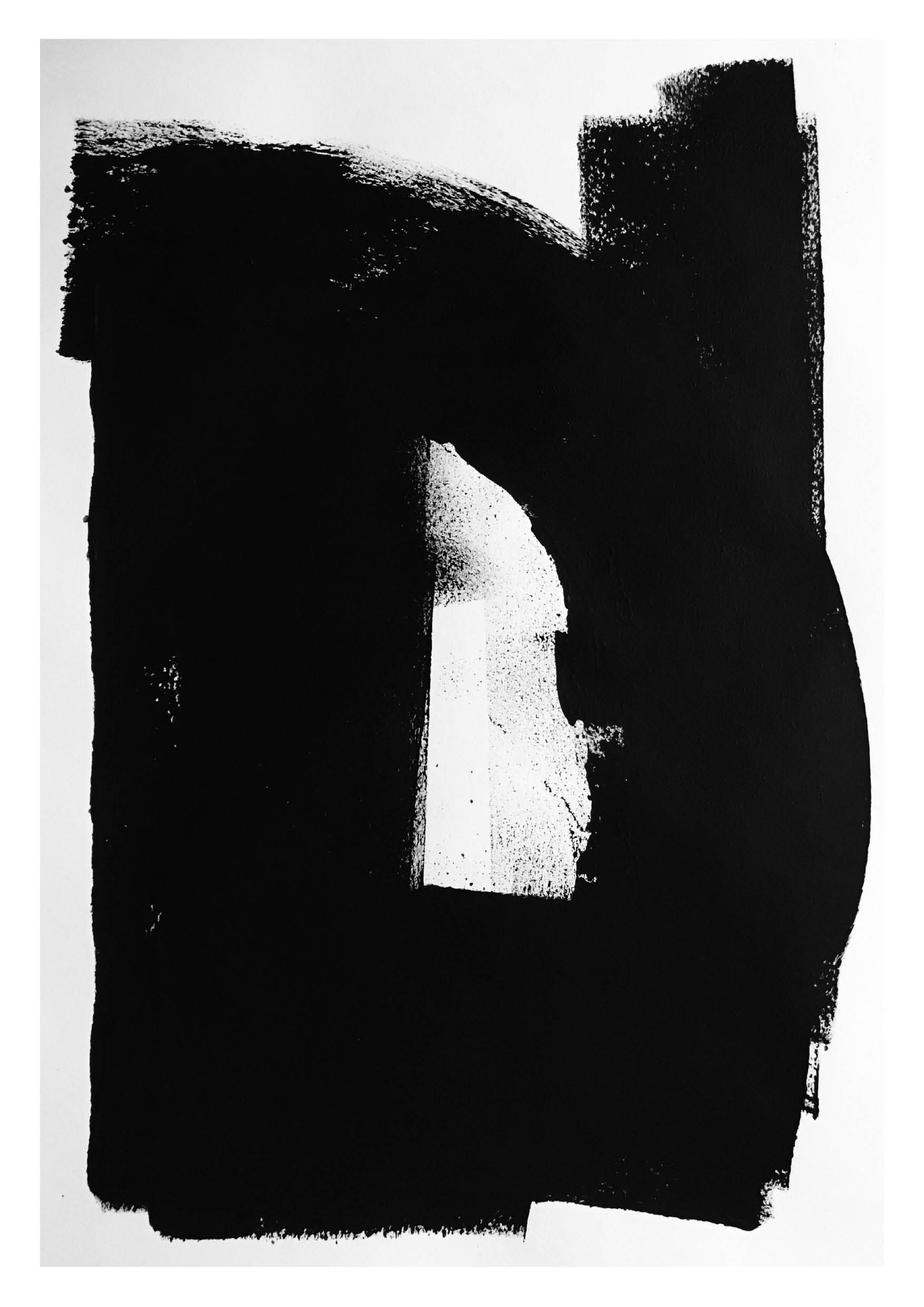 Untitled 5 – Black Acrylic on Paper